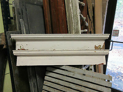 "PAIR c1880 VICTORIAN HEART pine window DOOR header pediment crown MOLDING 45"" L"