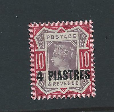 British Levant 1887 4 pi on 10d purple and carmine mint