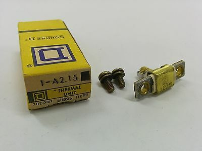 Square D A2.15 Overload Relay Thermal Unit A 2.15 Nib