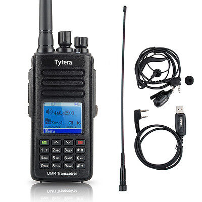 TYT MD-390 Digital Handheld Transceiver Two Way Radio Walkie Talkie 1000CH+Cable