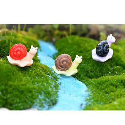 10 Miniature Dollhouse Glass Vase Bonsai DIY Craft Fairy Garden Snail Decor
