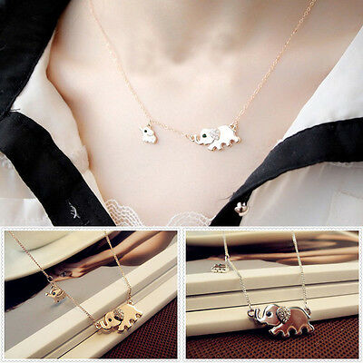 Fashion Elephant Pendant Chain Choker Gold/Silver Necklace Women Jewelry Gift
