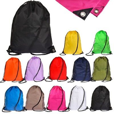 Waterproof Drawstring RuckSack/Bag/Sack/Backpack Solid - Swim/School/Book/Sport