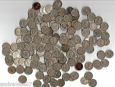 50 x Lucky Sixpence Coins - Good Mixed Date Collectable Bulk Lot 1940-1960's