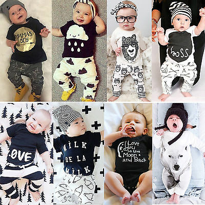 Summer Toddler Baby Boy 2Pcs Short Sleeve Outfits Tops+Pants Kids Casual Clothes