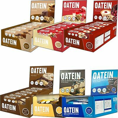 2 x Oatein Low Sugar Protein Flapjack 12x70g All Flavours 18g of protein per bar
