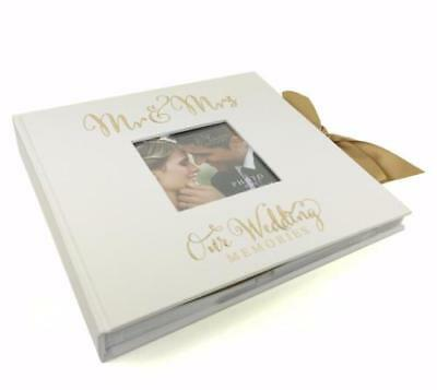 "Large Wedding Photo Album 50 6x8"" with verse design Gift WG707"