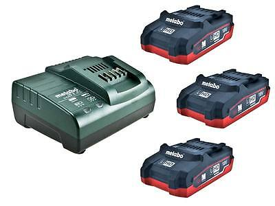 Metabo 685076000 18v 3 x 3.1Ah LiHD Battery Charger and Inlay Kit