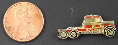 Red Semi Truck  Vintage Hat Pin