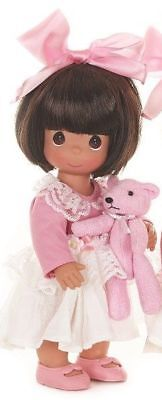 """Precious Moments Bear Hugs to You Brunette 12"""" Doll #6561"""