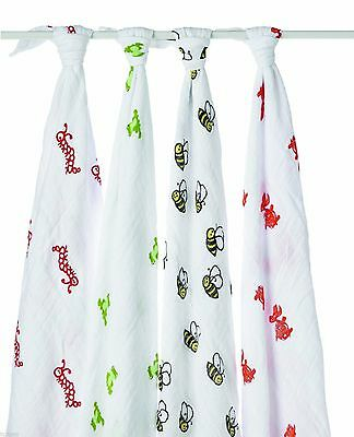 Aden & Anais 4 Pack Mod About Baby Muslin Swaddle Wrap