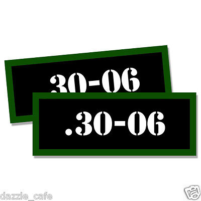 "30-06 Ammo Can 2x Labels for Ammunition Case 3""x1.15"" stickers decals 2pack"