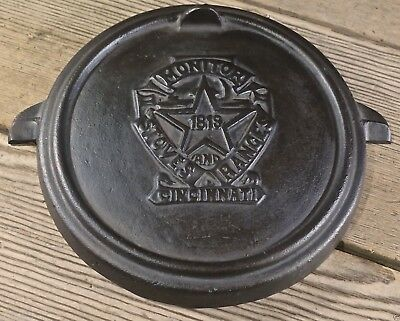MONITOR STOVES and RANGES vintage 1819 CINCINNATI iron Stove damper plate star