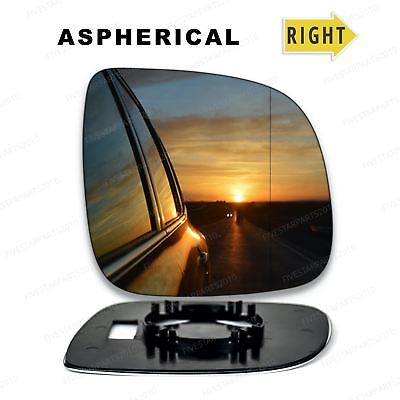 Right driver side wing wide angle mirror glass for VW Transporter T6 2015-On