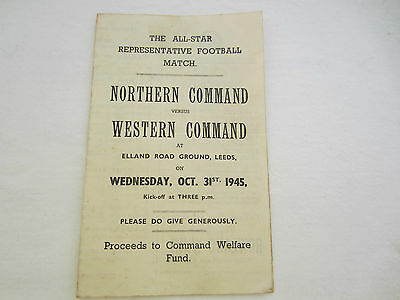1945-46  NORTHERN COMMAND v WESTERN COMMAND @ ELLAND ROAD