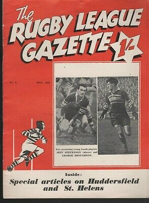 The Rugby League Gazette 1953 Free Post Uk