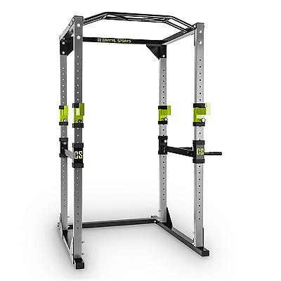 Power rack maison barre traction exercice fitness body building abdos cage squat