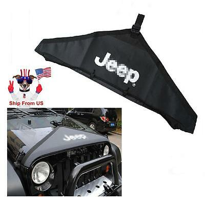For 2007-2016 Jeep Wrangler JK Hood Cover Front End Bra Protector Kit OEM Black