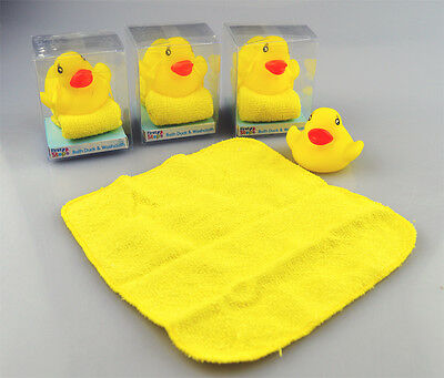 Rubber Duck Wash cloth Bath Time Baby Bath Water Playtime Pack Of 4