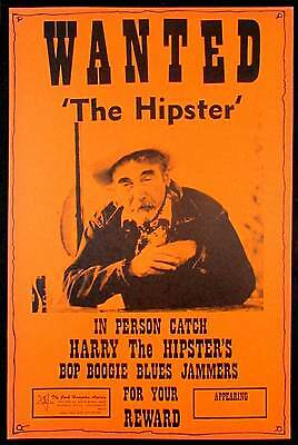 """Harry """"the Hipster"""" Gibson Tour Poster 1970s Boxing Style Heavy Card Stock MINT"""
