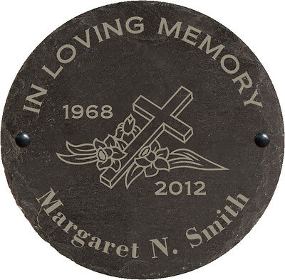Personalised Engraved In Loving Memory Large Slate Memorial Remembrance Plaque
