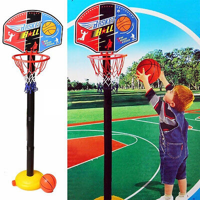 Toddler Baby Kids Sports Game Basketball Hoop Toy Set w/ Stand Ball & Pump 115cm