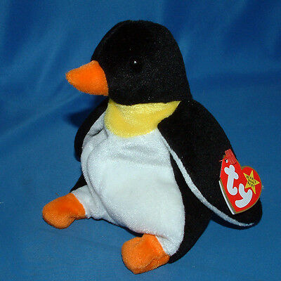 Ty Beanie Baby Waddle - MWMT (Penguin 1995)
