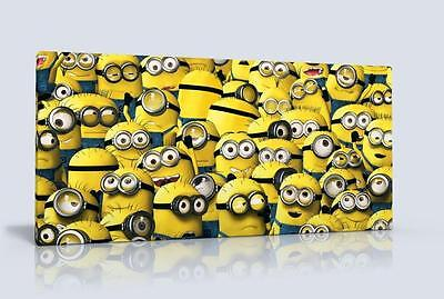 Single Canvas Picture Wall Art Minions Free P&p New Choose From 2 Designs