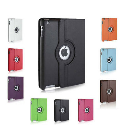 Heavy Duty 360 Rotating Shockproof Leather Case Cover Stand for Apple iPad Air 2
