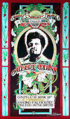 Albert Collins Poster Gassy Jack's 1971 2nd Signed by Bob Masse