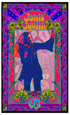 Janis Joplin Fan Poster Psychedelic Explosion Litho Print Signed by Bob Masse