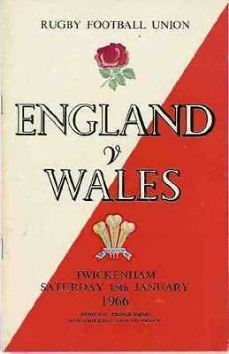 ENGLAND v WALES 1966 RUGBY PROGRAMME