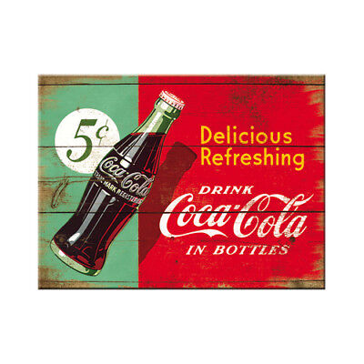 MAGNET 14334 - COCA-COLA DELICIOUS REFRESHING - 8 x 6 cm - NEU