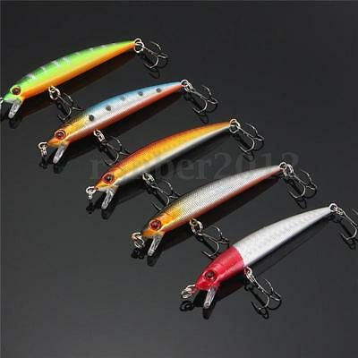 Lot 5pcs ARTIFICIALES Crankbaits Cebos SEÑUELOS Ganchos PESCA Fishing Lures