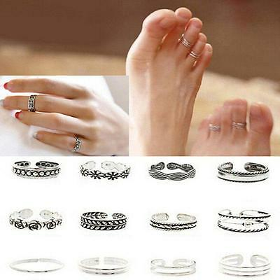 Retro Women Jewellery Celebrity Simple Adjustable Toe Ring Midi Ring Cool