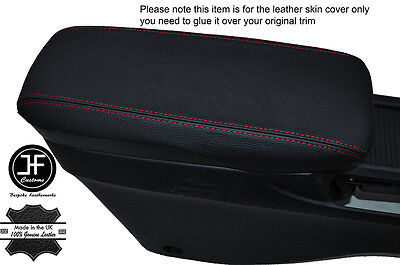 Red Stitch Armrest Lid Leather Cover Fits Honda Civic & Type R Mk8 2006-2012