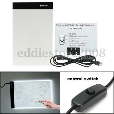 A4 LED Light Stencil Touch Board Ultra Thin Box Tattoo Supply Tracing Table Pad