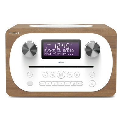 Pure Evoke C-D4 All-in-One DAB+/FM Music System with CD & Bluetooth in Walnut