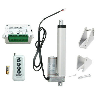6'' 330lbs 12V Heavy Duty Linear Actuator W/ Wireless Controller Kit Door Opener