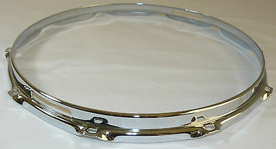 "14"" 10 Hole 3mm Triple Flanged Chrome Drum Hoop Snare Side between 2.3 Die Cast"