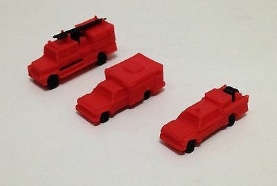 Outland Models Railway Wildland Style Fire Engine / Truck Set Z Scale 1:220