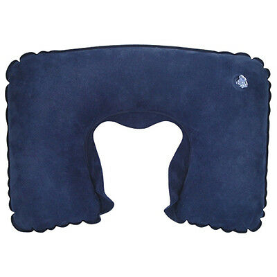Blue Inflatable Neck Travel Pillow Head Rest Cushion for Car Train Plane Sleep