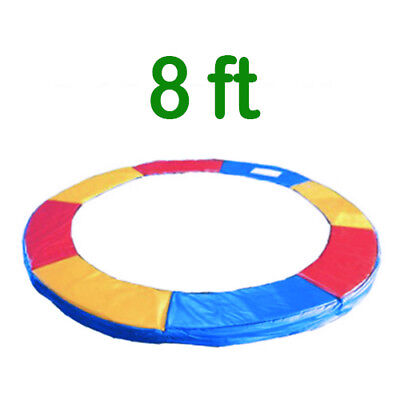 Trampoline Replacement Pad Safety Padding Spring Cover 8ft Tri-Colour