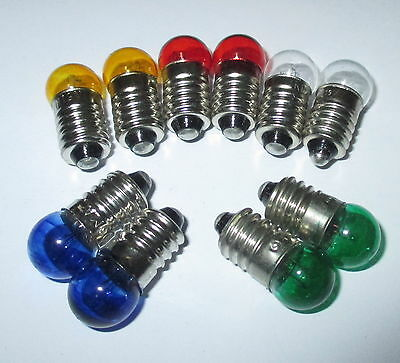 Spare bulbs 11mm Ball - Colored E10 - 19V - color of your choice 10 Pcs NEW