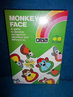 Monkey Face - Vintage Orda Game To Develop Recognition (1980) - New & Sealed