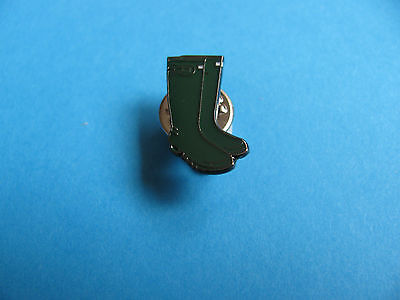 New Green Wellington Boots pin badge, Enamel.