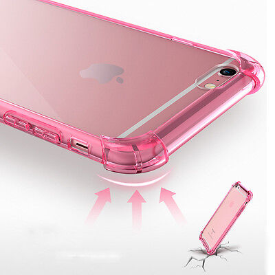Shockproof Crystal Clear Hard Back Soft Bumper Case Cover For iPhone 7 5 6 Plus