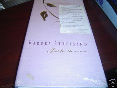 Barbra Streisand Just For The Record 4 Cd Sealed 1991