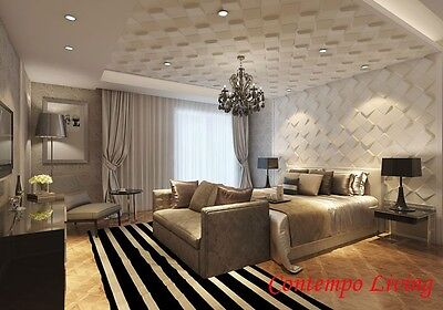3D Glue on Wall Panel Plant Fiber Material Space Design 1 Box of 32 sqft