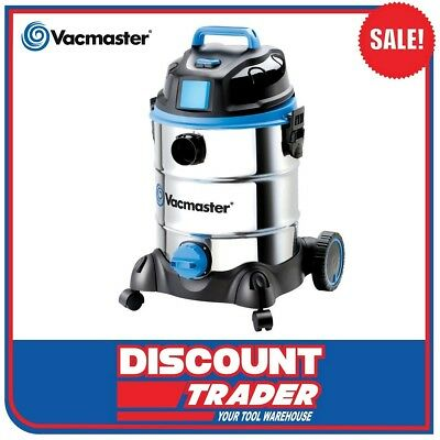 Vacmaster 1500W Wet/Dry Vacuum Cleaner 30L Stainless Tank - VMVQ1530SWDC